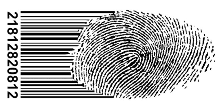 Fingerabdruck Barcode Datenschutz