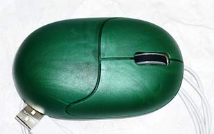 Faire Maus in grün