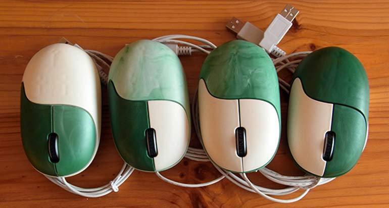 Die faire Maus gibt es in 4 Variationen